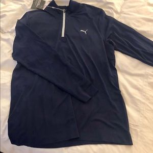 Men's XL Navy Blue Quarter ZIP Pullover jacket